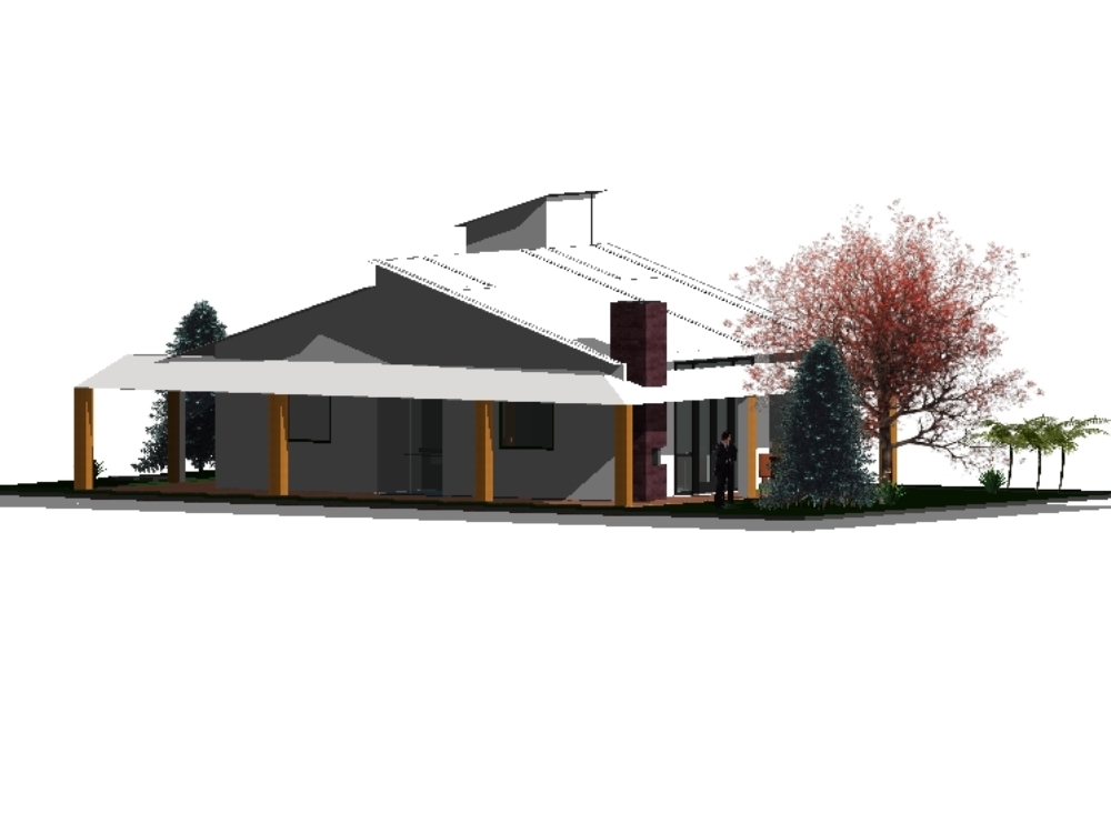 Modern design country house of 12x10m2