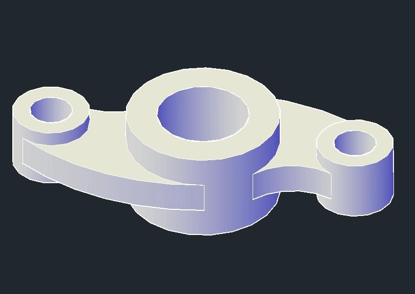 Componente mecánico de balancín 3d