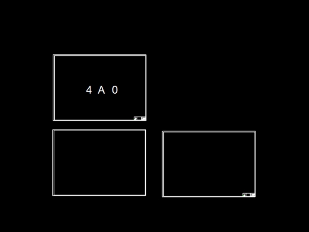 Format 4 a0 with base box of an electrical drawing