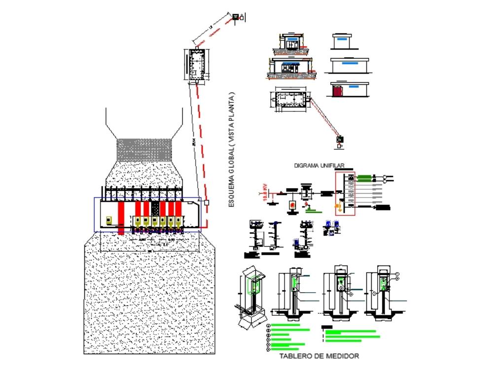 Plano electrico de estacion de bombeo