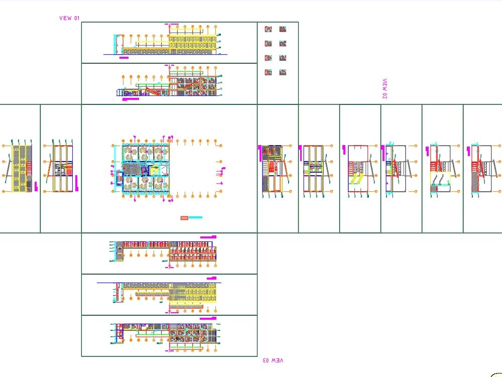 Plano de arquitectura del colegio futura school