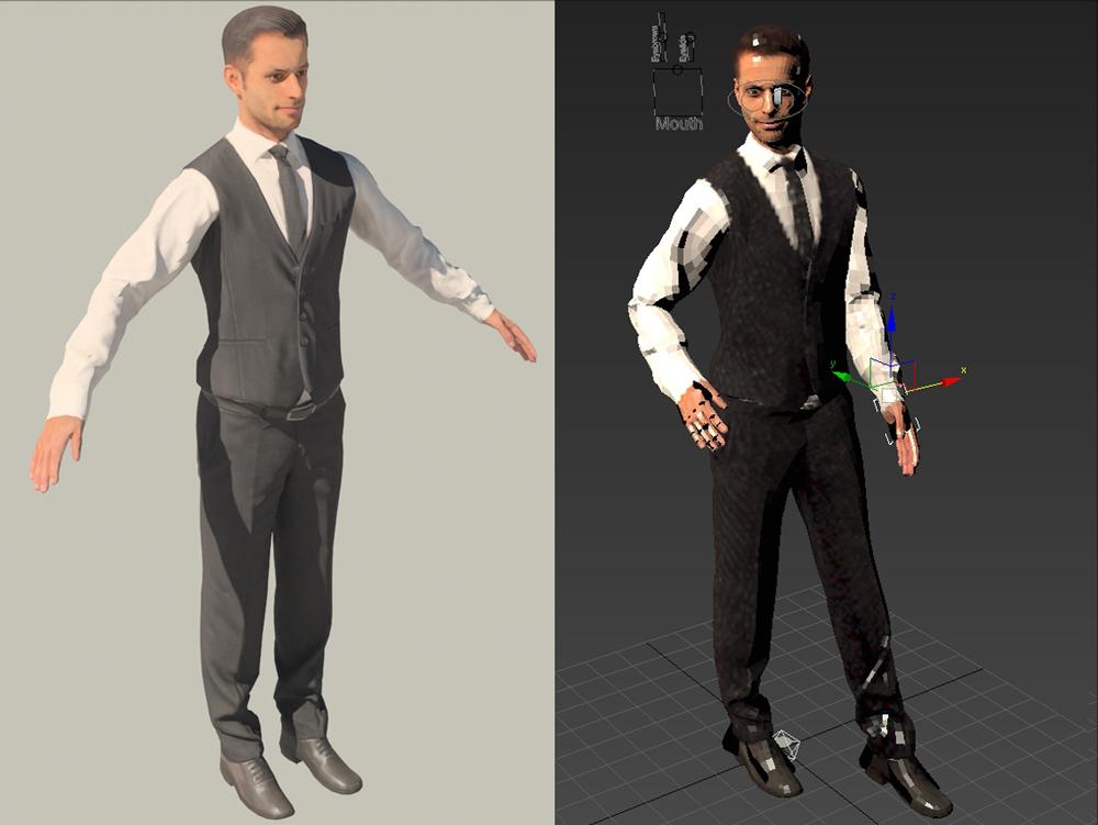 3d businessman man