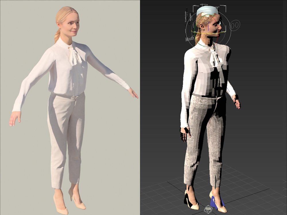 3d businesswoman woman