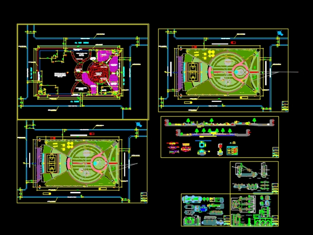 Plan of recreational park-distribution