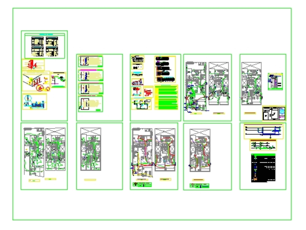 Plano eléctrico de un edificio multifamiliar
