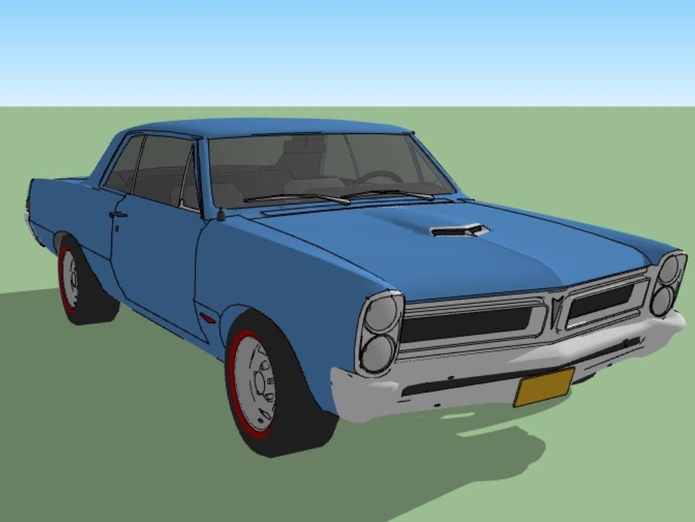 Classic car pontiac gto 1965