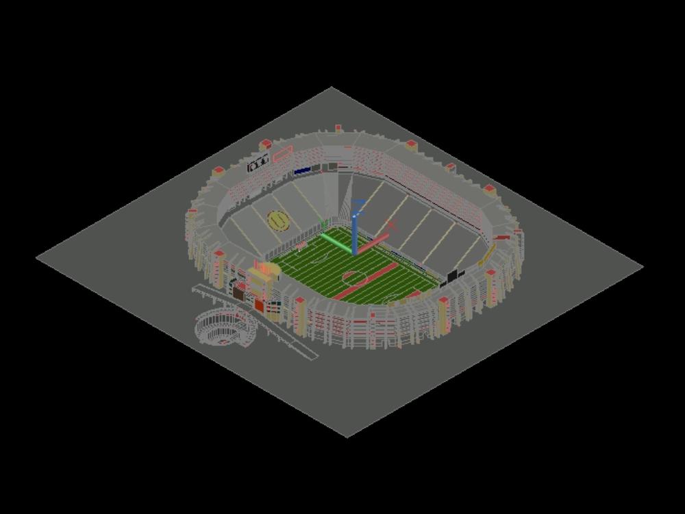 Monumental university sports stadium