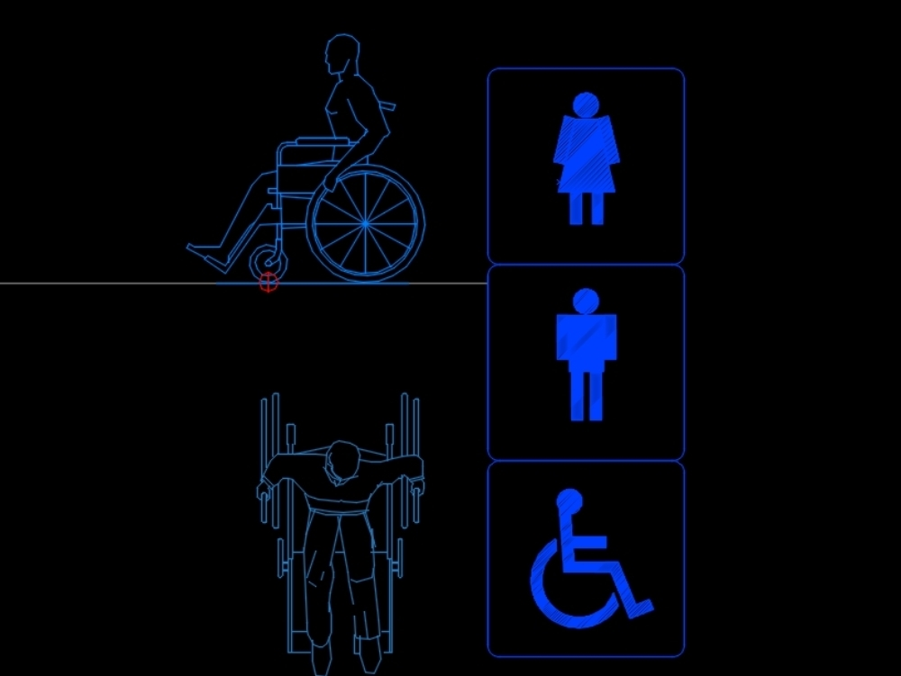 Signage for the disabled