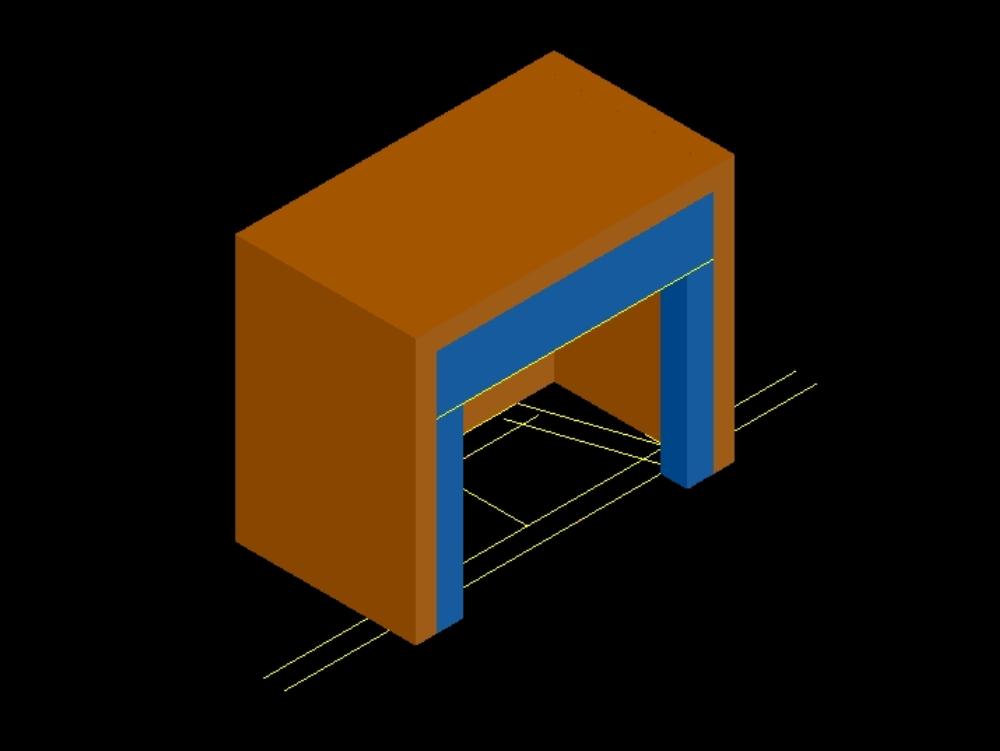 Detalle de chimenea simple