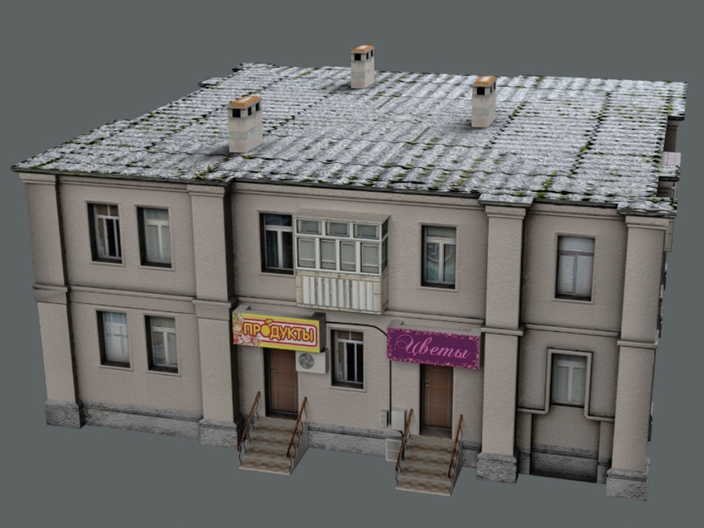 3dmax modeled setting house