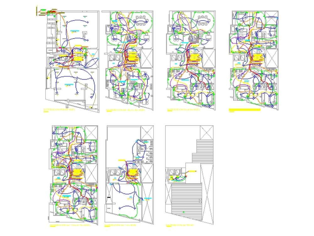 Planos  dwg torre empresarial con planos