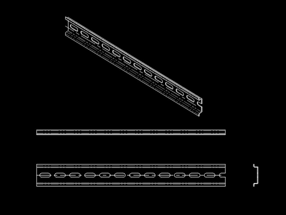 Din rail for terminal blocks; switches; etc