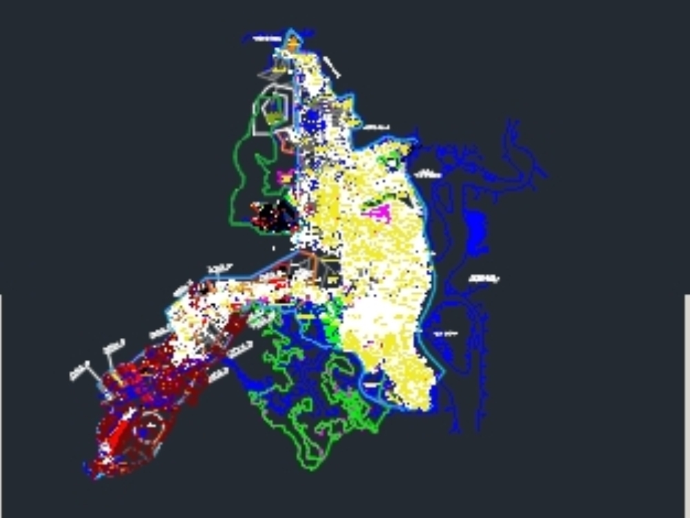 Cadastral map of Guayaquil year 2017