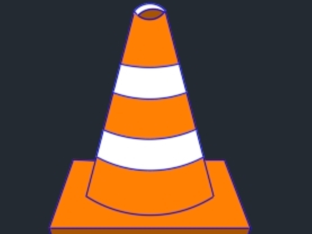 Traffic controls identified by cones