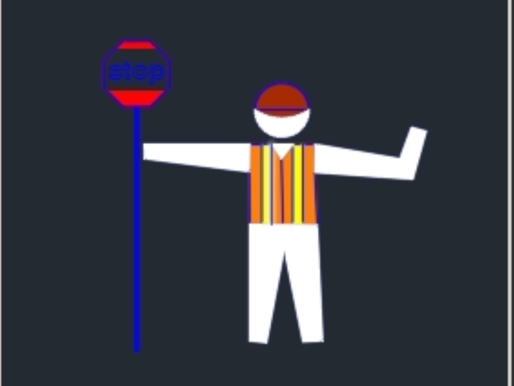 Traffic control - control person - vijia