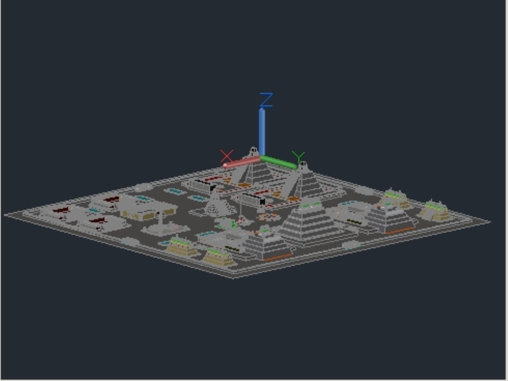3d teotihuacan state of mexico 2020