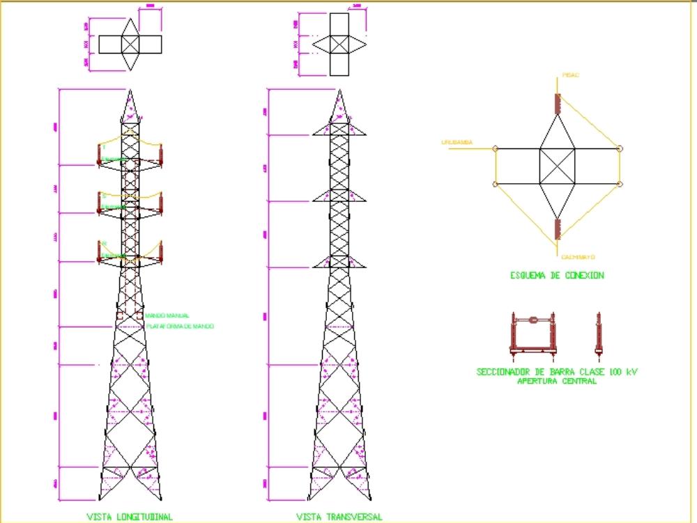 Línea de transmisión electrica de 60 kv