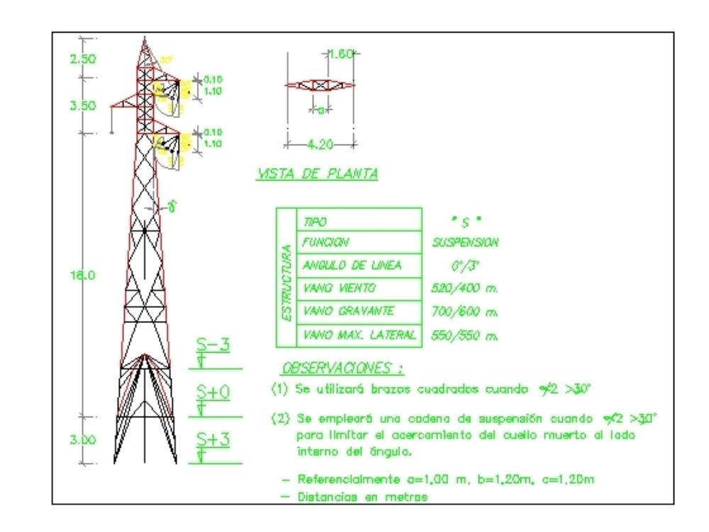 Torre de trasmisón de 25 metros de altura