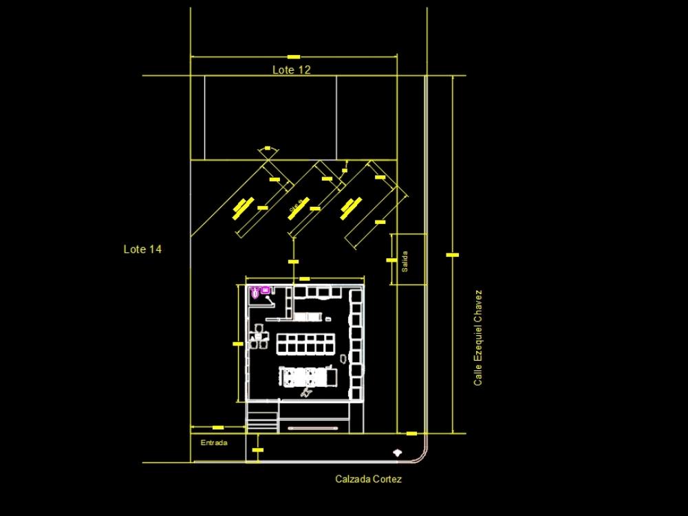 Restaurant architectural plan