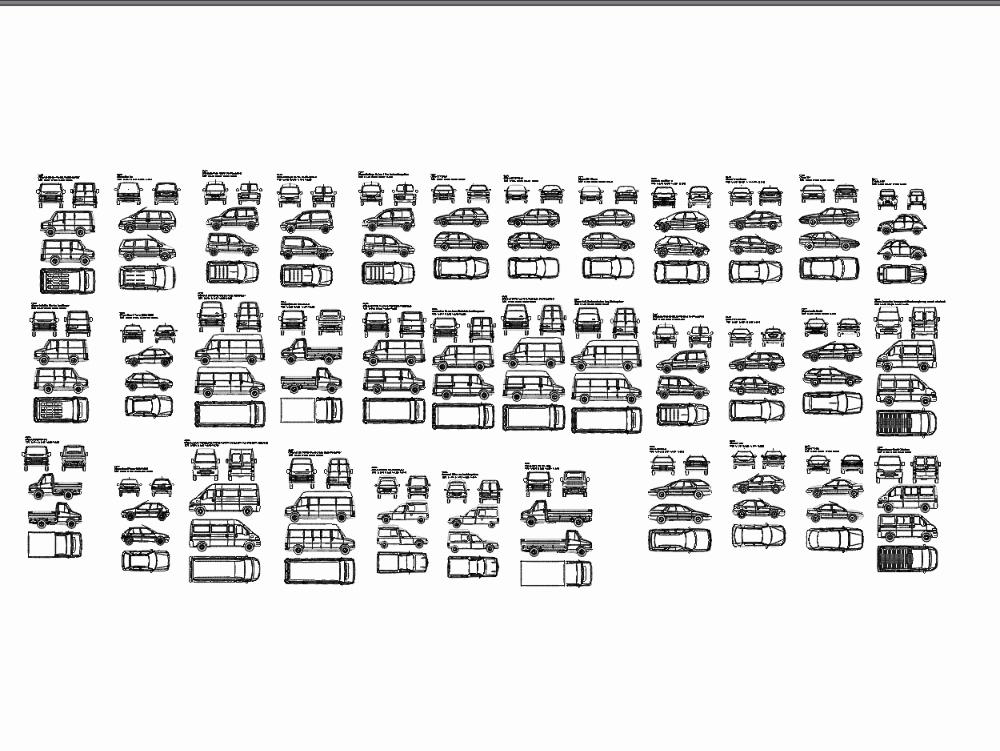 Cars in dwg format
