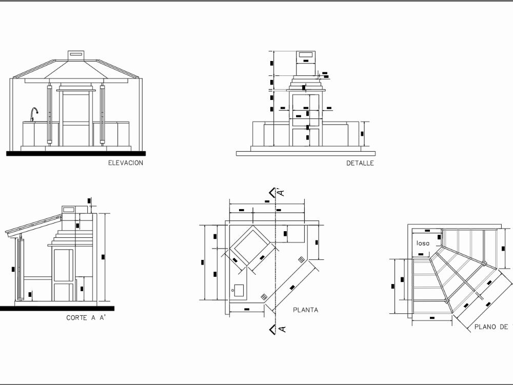 Grill design in autocad 2015
