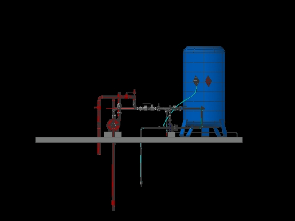 Sistema hidroneumatico; isometria