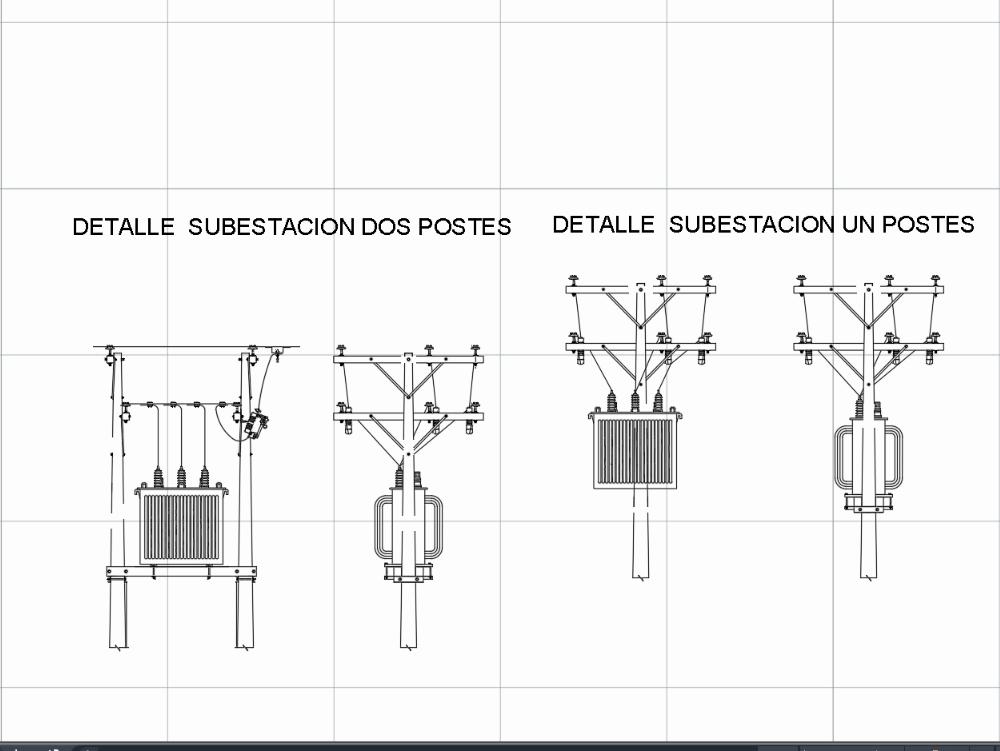 Transformador  instalado en poste de concreto