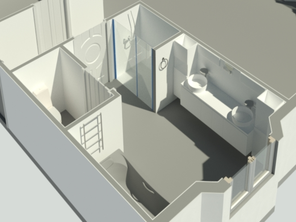Revit bathroom project