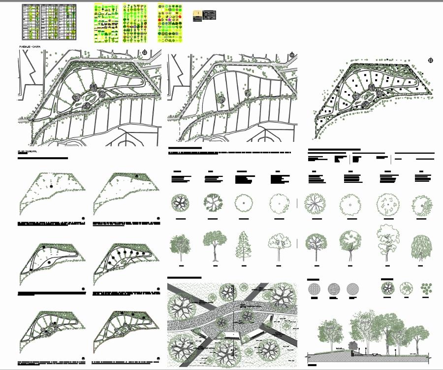 Detalle en paisaje arborizacion y ficha tecnica