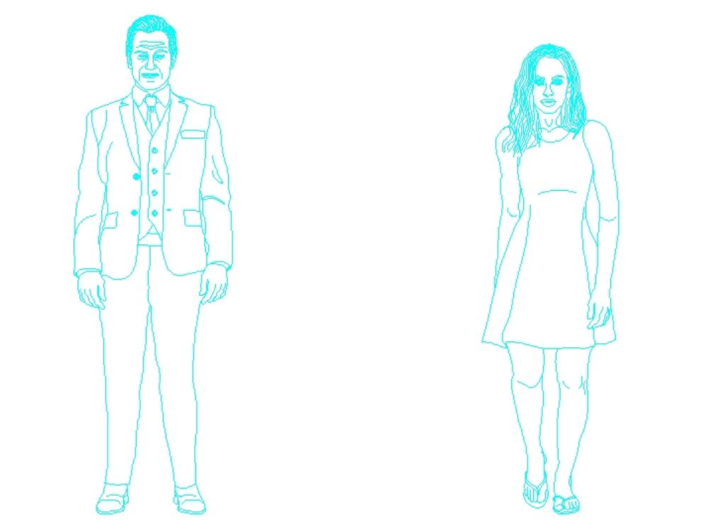 Menschliche Figuren von Mann und Frau
