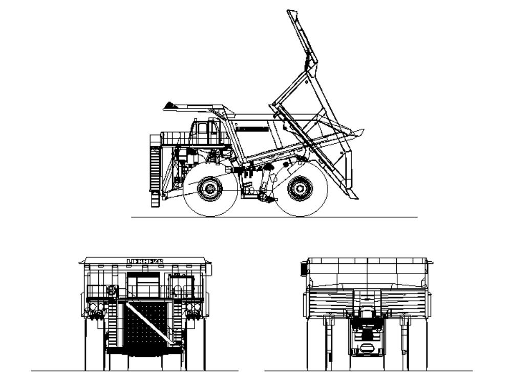 200 meter characteristic mining truck