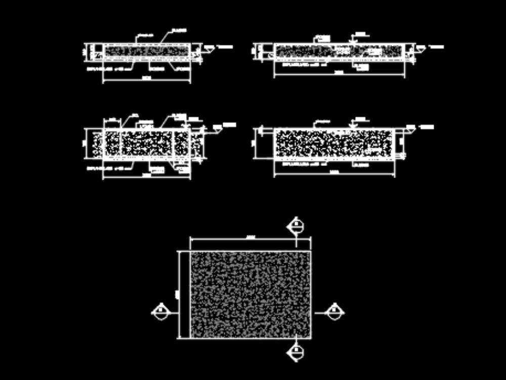 Fundacion para ventilador de sistema extracción