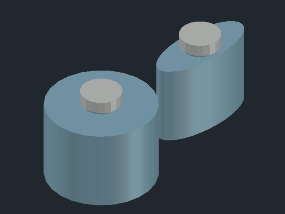 2 frascos de tinteros circular y elipse