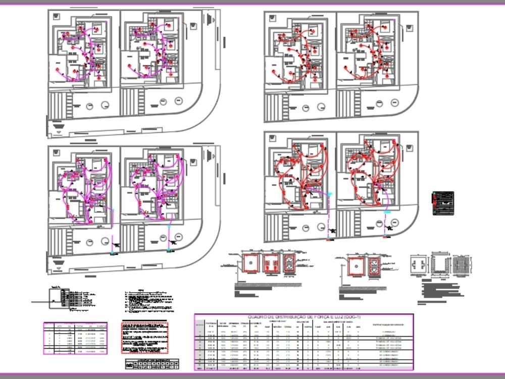 Proyecto eléctrico de casa popular (mcmv)