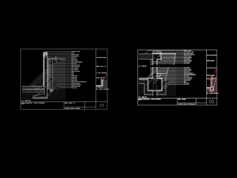 Construction details - retaining walls