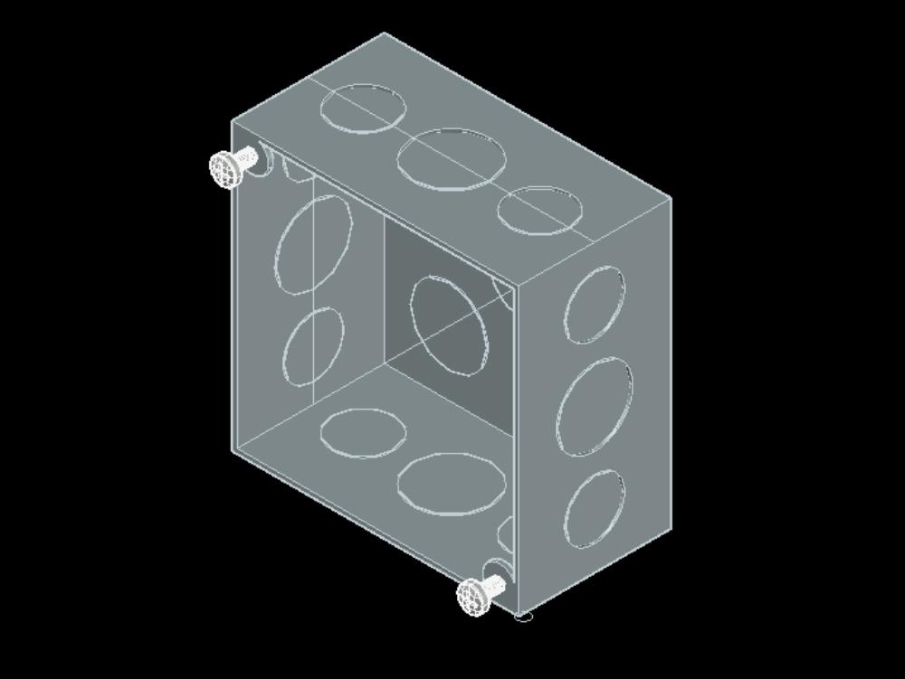 Caja cuadrada catálogo 257 marca raco electricidad