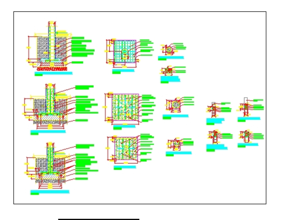 Structural details foundations: footings