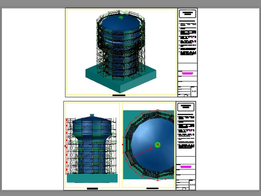 Torre de andamios fijo circular para reservorio de agua potable
