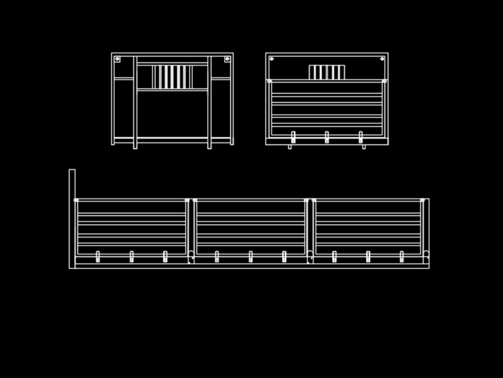 Flat-type body with drop-down rails