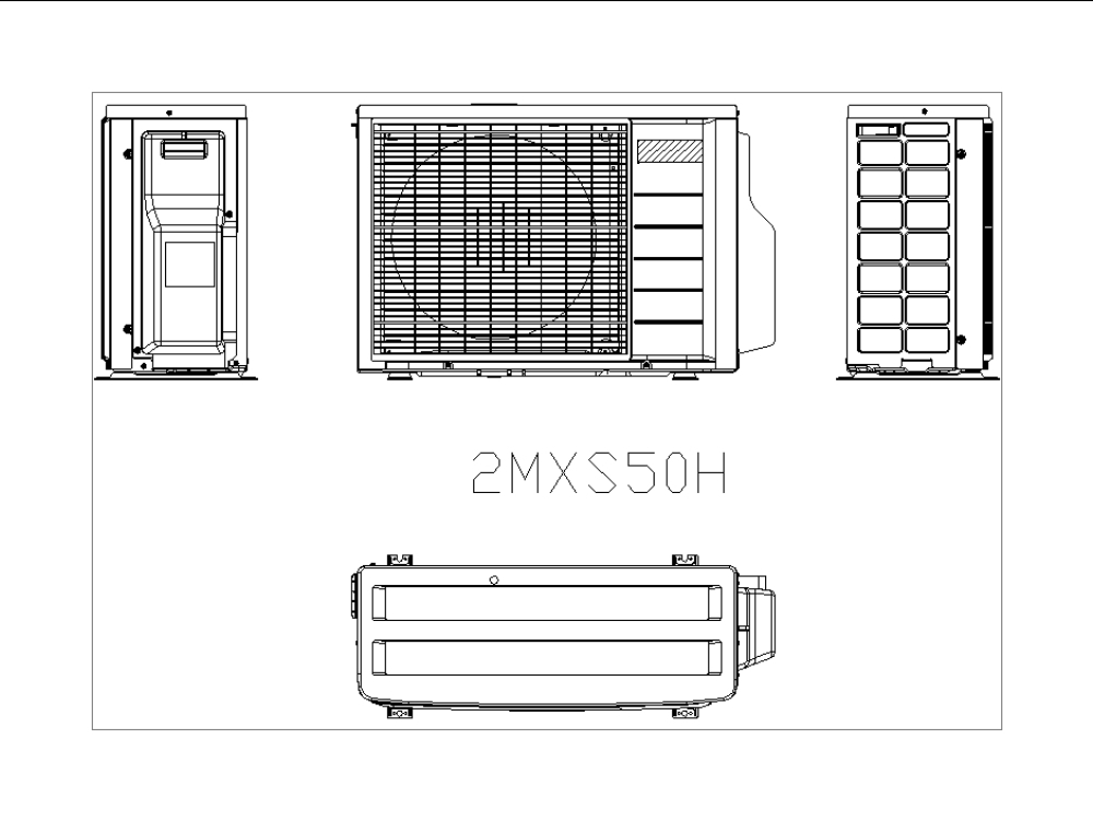 Split type system for air conditioning systems