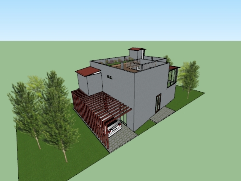 Detached house 3d conditioning