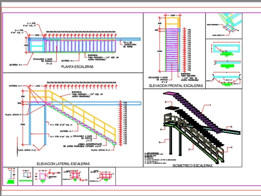 Metal ladder with non-slip sheet