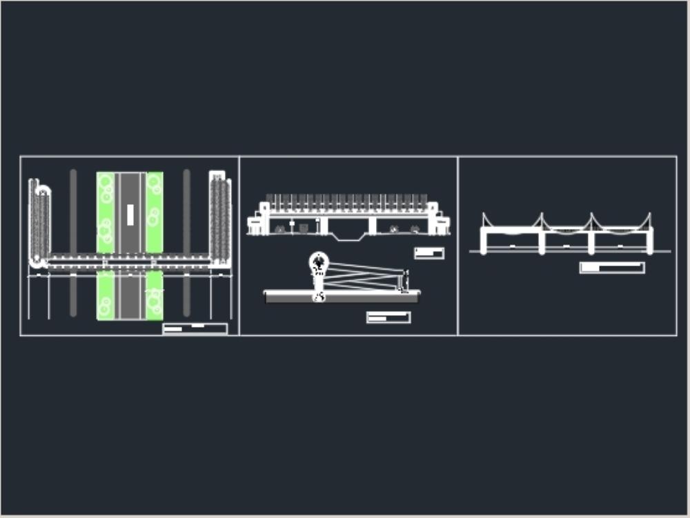 Pedestrian bridge 2; details and measurements