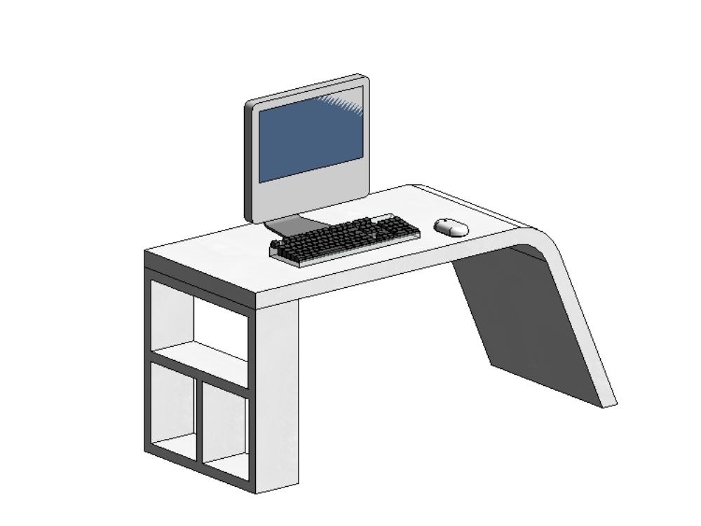 Escritorio sillón computadora mouse