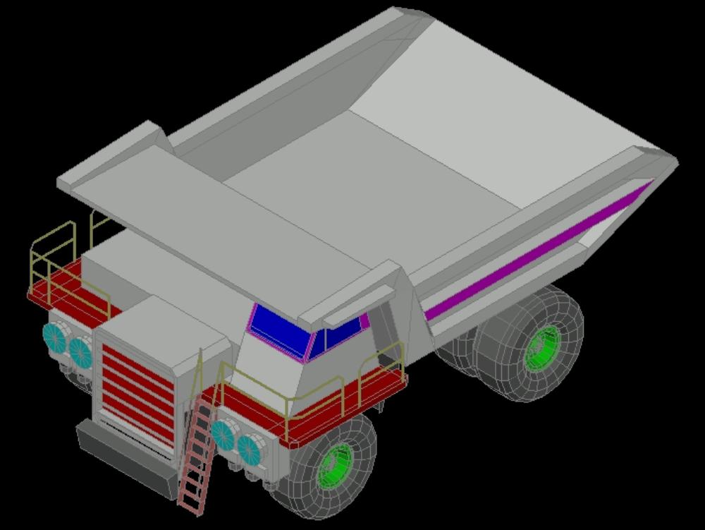 Mining truck loading 3d format