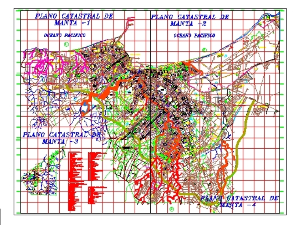 Cadastral map of the city of Manta