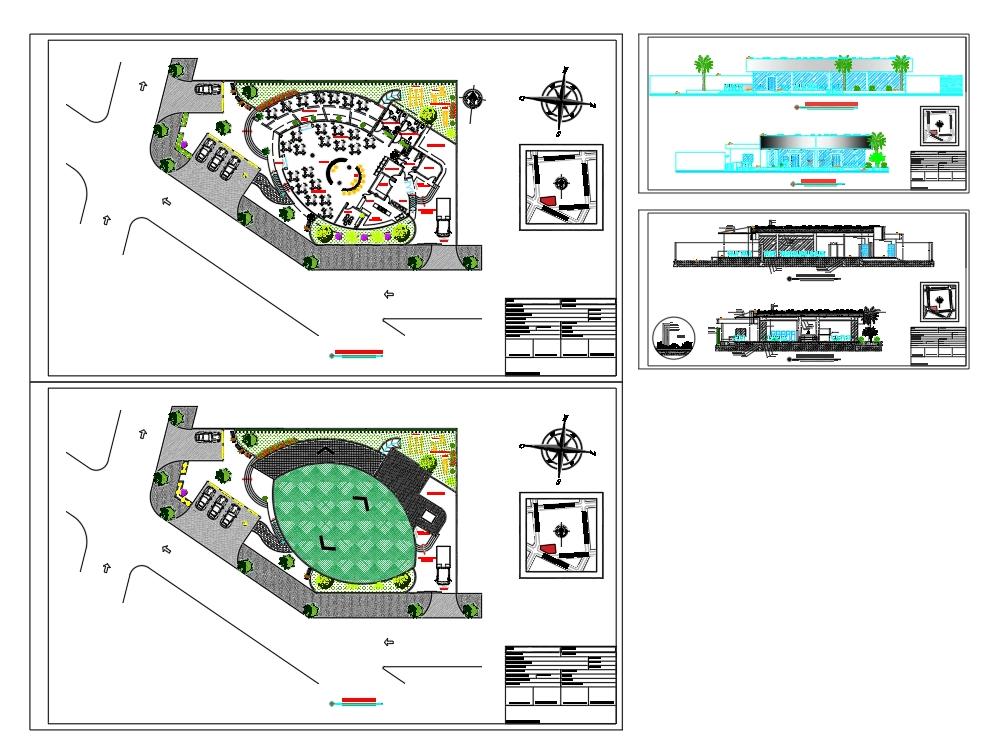 Plano de un proyecto de  restaurante