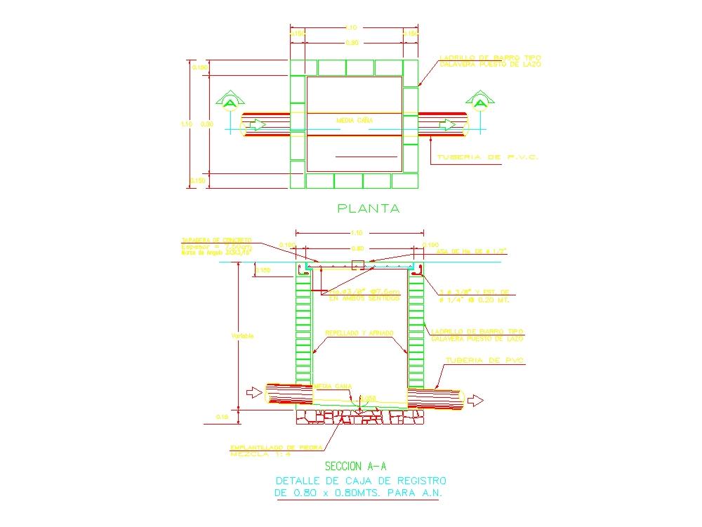 Caja de registro de concreto prefabricado