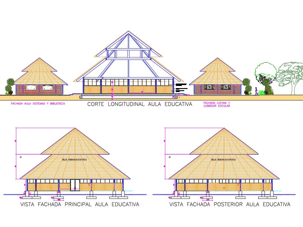 Plano de arquitectónico de escuela