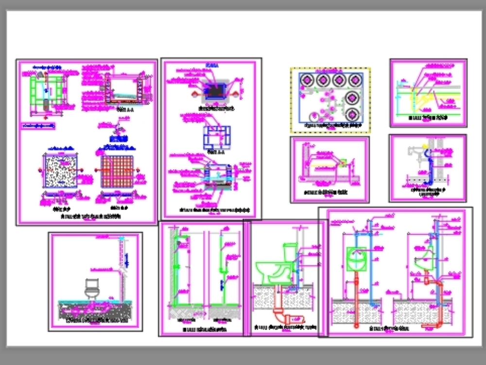 Pumping and sanitary details plans